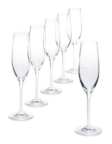 Glucksteinhome Catering Set of 6 Champagne Flutes-CLEAR-One Size