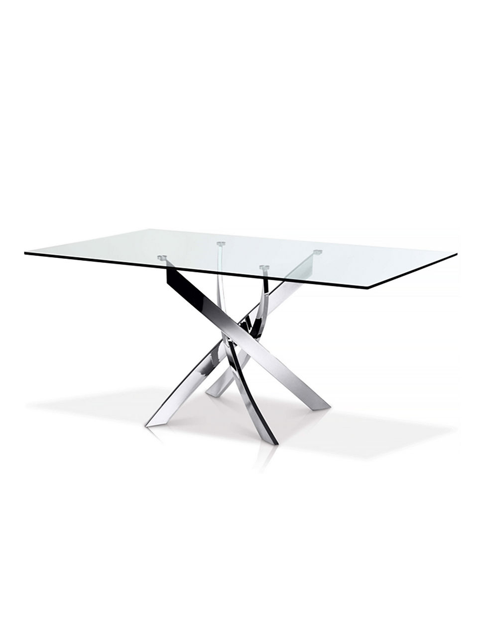 Ellis Rectangular Glass Top Dining Table