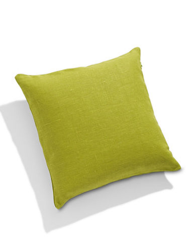 Distinctly Home Square Linen Cushion-GREEN-One Size