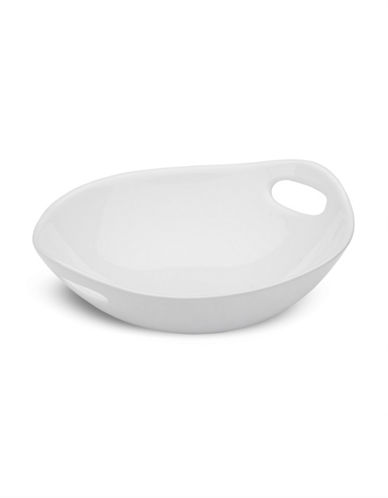 Bon Appetit Oval Bowl with Handles-WHITE-One Size 87214961_WHITE_One Size