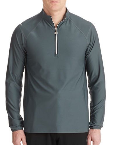 Hbc Sport Zip Up Training Tee-SLATE-Medium