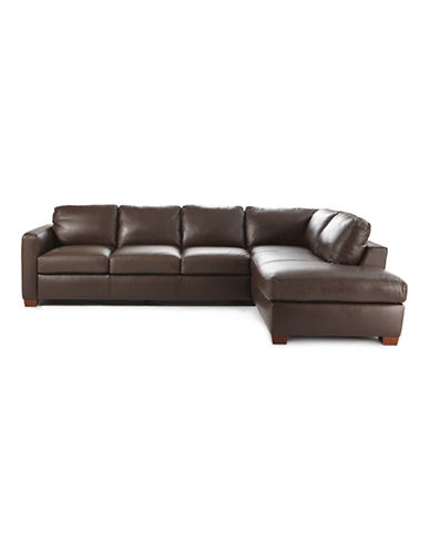 Trieste III Leather Sectional Sofa with Chaise