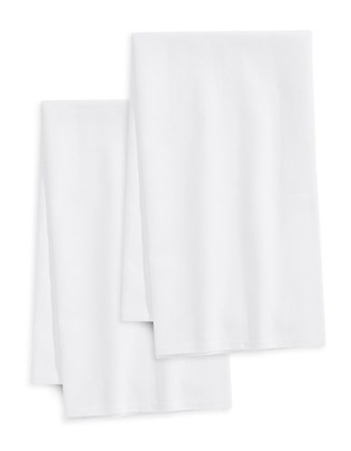 Essential Needs Set of Two Flour Sack Towels-WHITE-One Size