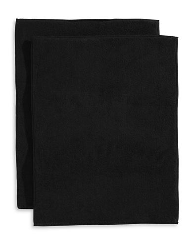 Essential Needs Set of 2 Microfibre Dish Drying Mat-BLACK-One Size