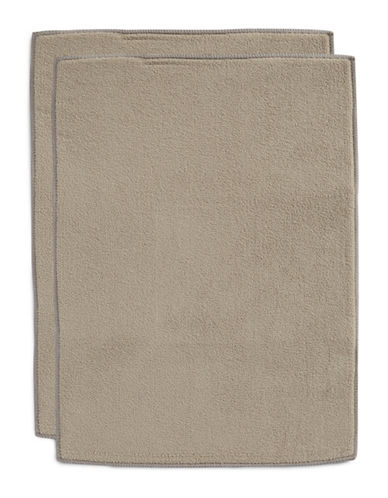 Essential Needs Set of 2 Microfibre Dish Drying Mat-TAUPE-One Size