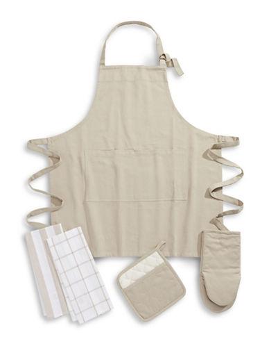 Essential Needs Five-Piece Kitchen Linen Set-TAUPE-One Size