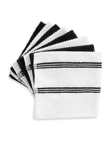 Essential Needs Eight-Set Dish Cloths-BLACK-One Size