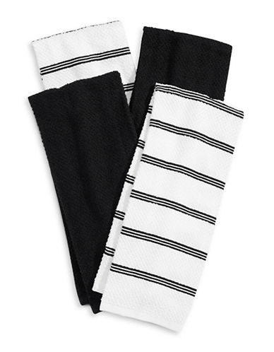 Essential Needs Four-Set Kitchen Towels-BLACK-Kitchen Towel