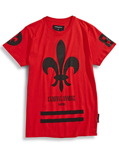 Criminal Damage Fleur de Lis T-Shirt-RED-Large 87432834_RED_Large