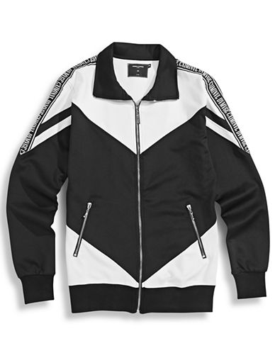 Criminal Damage Chevron Colourblock Track Jacket-BLACK-Large 87432871_BLACK_Large