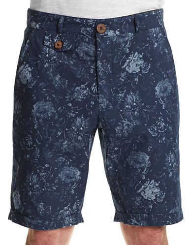 Oliver Spencer Skinny Cuffed Shorts-ROYAL-28