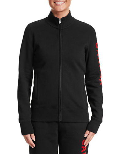 Canadian Olympic Team Collection Womens Track Jacket-BLACK-Small 87456601_BLACK_Small