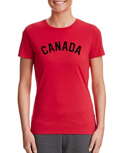 Canadian Olympic Team Collection Womens Canada Tee-RED-Large 87457483_RED_Large