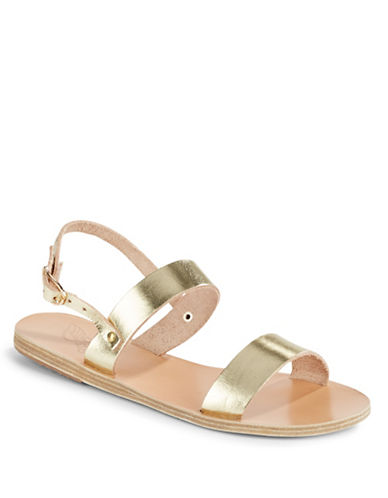 Ancient Greek Sandals Clio Platinum Leather Sandals-GOLD-EUR 37/US 7
