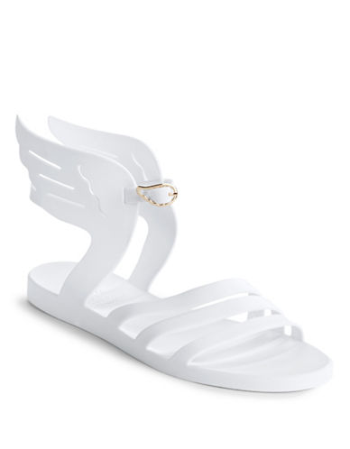 Ancient Greek Sandals Ikaria Winged Jelly Sandals-WHITE-EUR 36/US 6
