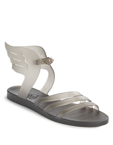 Ancient Greek Sandals Ikaria Winged Jelly Sandals-GREY-EUR 36/US 6