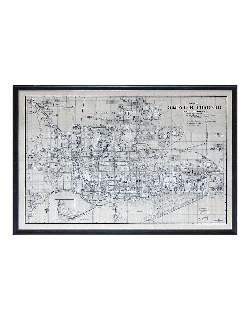 1916 Gta Map Giclee Print Hudsons Office Furniture