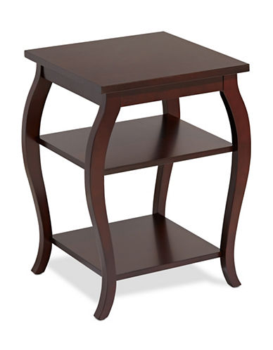 Home Studio Curved Side Table-ESPRESSO-One Size