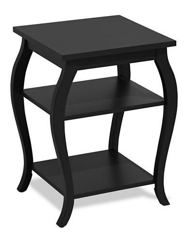 Home Studio Curved Side Table-BLACK-One Size