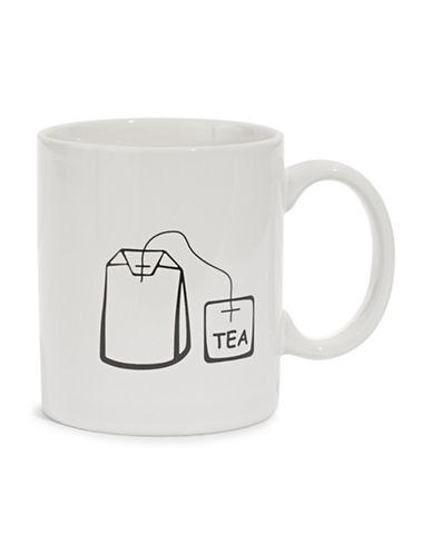 Distinctly Home Tea Bag Icon Mug-CREAM-One Size