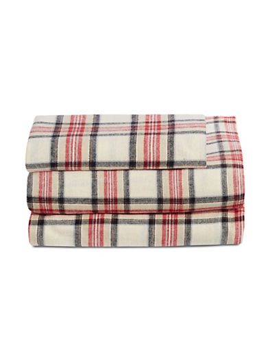 Distinctly Home Three-Piece Highland Plaid Sheet Set-MULTI-COLOURED-Twin