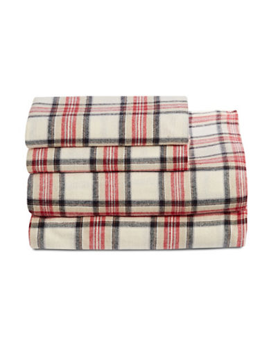 Distinctly Home Four-Piece Highland Plaid Sheet Set-MULTI-COLOURED-Double