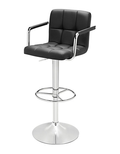 Distinctly Home Finn Armed Barstool-BLACK-One Size