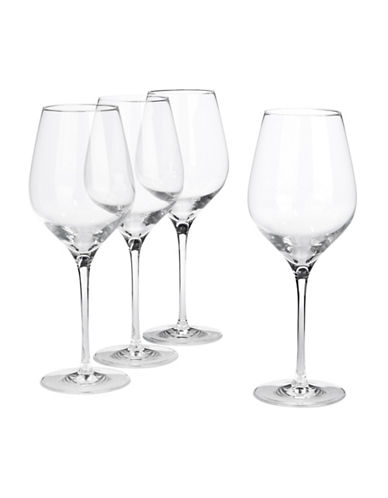 Glucksteinhome Fete Set of Four Red Wine Glasses-CLEAR-One Size