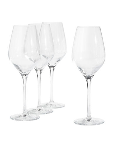 Glucksteinhome Fete Set of Four White Wine Glasses-CLEAR-One Size