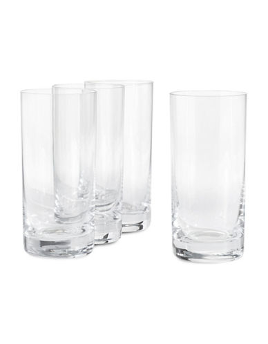 Glucksteinhome Fete Set of Four Highball Glasses-CLEAR-One Size