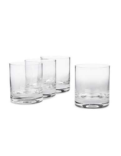 Glucksteinhome Fete Four Double Old Fashioned Glasses-CLEAR-One Size
