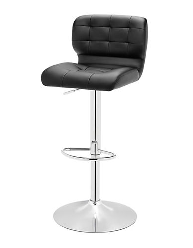 Distinctly Home Pepper Tufted Barstool-BLACK-One Size