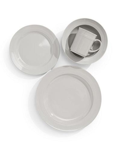 Glucksteinhome 16 Piece Bistro Dinnerware Set-GREY-One Size