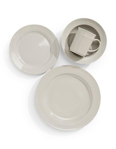 Glucksteinhome 16-Piece Bistro Dinnerware Set-TAUPE-One Size