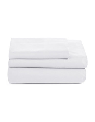 Distinctly Home Spectrum 520 Thread-Count Three-Piece Sheet Set-WHITE-Twin
