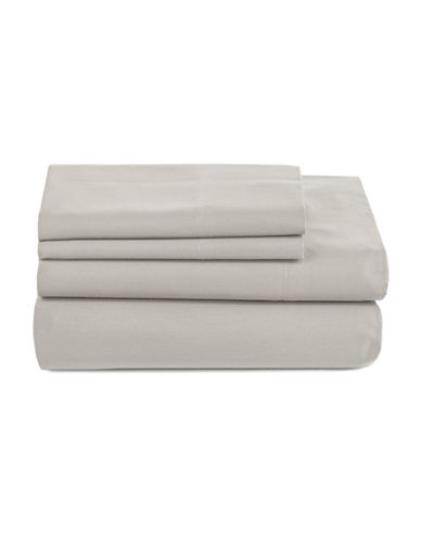 Distinctly Home 520 Thread-Count Cotton Four-Piece Sheet Set-GREY-Queen