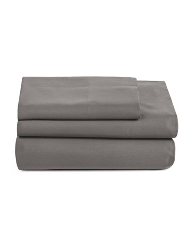 Distinctly Home Spectrum 520 Thread-Count Three-Piece Sheet Set-CHARCOAL-Twin