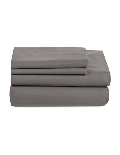 Distinctly Home Spectrum 520 Thread-Count Four-Piece Sheet Set-CHARCOAL-Double