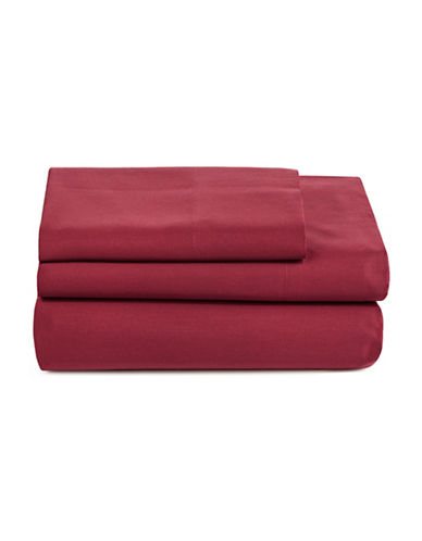 Distinctly Home Spectrum 520 Thread-Count Three-Piece Sheet Set-RED-Twin