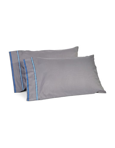 Distinctly Home Two-Pack Marin Stripe Cotton Pillowcases-MULTI-COLOURED-Standard
