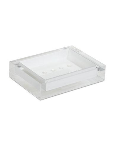 Glucksteinhome Ice Flow Lucite Soap Dish-BRIGHT WHITE-One Size