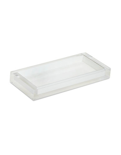 Glucksteinhome Ice Flow Lucite Tray-BRIGHT WHITE-One Size