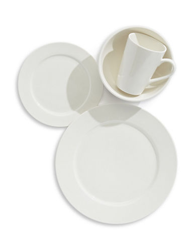 Glucksteinhome 16-Piece A la Carte Porcelain Dinnerware Set-WHITE-One Size