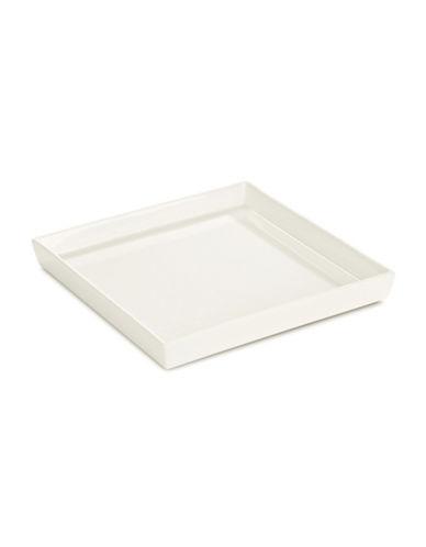 Glucksteinhome Square Porcelain Platter-WHITE-One Size