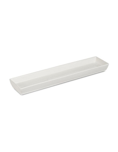 Glucksteinhome Narrow Rectangle Platter-WHITE-One Size