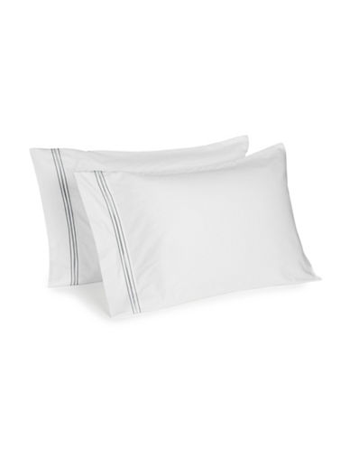 Glucksteinhome Essex Two-Piece Pillowcase Set-GREY-Standard