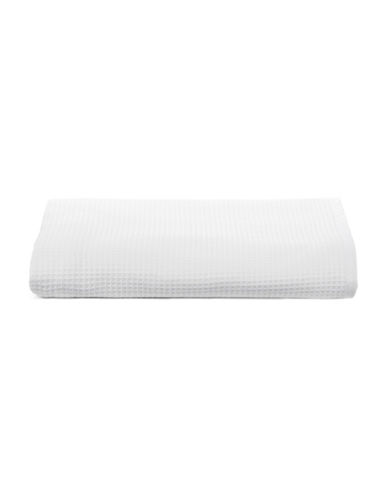 Glucksteinhome Waffle Cotton Bath Towel-WHITE-Bath Towel