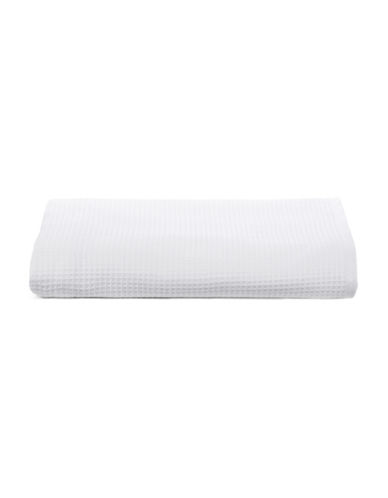 Glucksteinhome Waffle Cotton Bath Sheet-WHITE-Bath Sheet