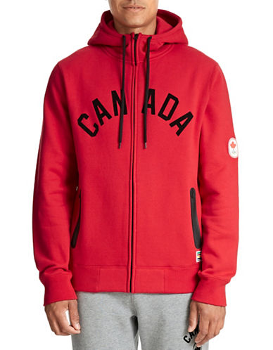 Canadian Olympic Team Collection Mens Full Zip Hoodie-RED-X-Large 87526461_RED_X-Large