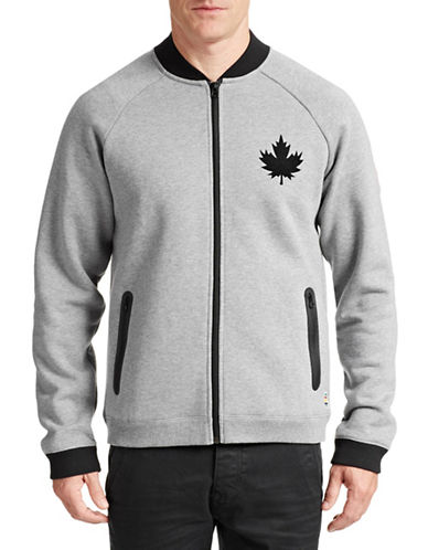 Canadian Olympic Team Collection Men's Bomber Jacket-GREY-XX-Large 87526482_GREY_XX-Large
